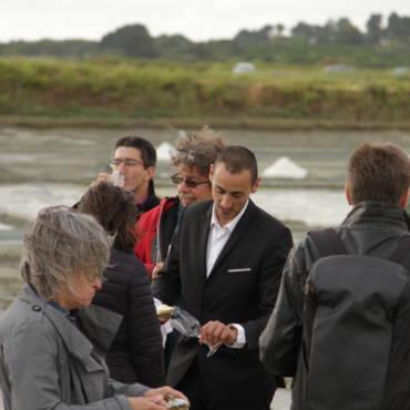 Dégustation dans les marais salants de Guérande
